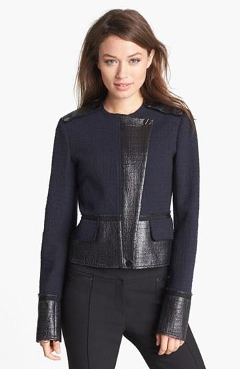 Rachel Roy Coated Tweed Jacket