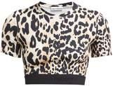 Paco Rabanne Leopard-print Stretch-jersey Crop Top - Womens - Leopard
