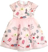 Simonetta Travel Embroidered Organza Party Dress