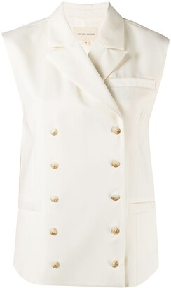 LOULOU STUDIO Double-Breasted Sleeveless Blazer