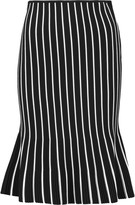 J.W.Anderson Striped ribbed-knit skirt
