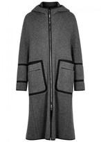 Wooyoungmi Grey Wool Trimmed Coat