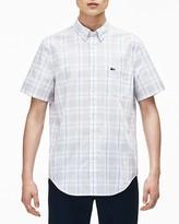Lacoste Plaid Poplin Regular Fit Button-Down Shirt