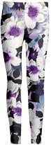 Lily Women's Leggings PRP - Purple & White Floral Leggings - Women & Plus