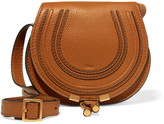Chloé The Marcie Mini Textured-leather Shoulder Bag - Brown