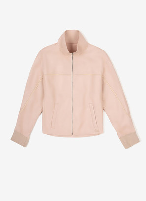 Bally Funnel Neck Leather Jacket