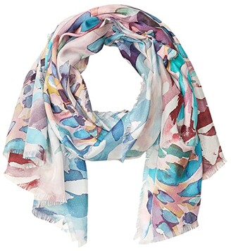 Echo New York Colorful Animal Sand Washed Silk Oblong (Multi) Scarves