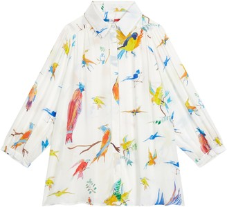 G.Kero - Flying Birds Blouse - X-Small