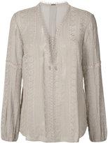 Elie Tahari sheer long sleeve blouse - women - Silk - S