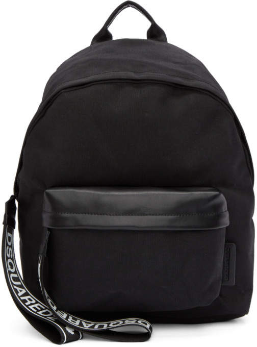 DSQUARED2 Black Nylon Backpack