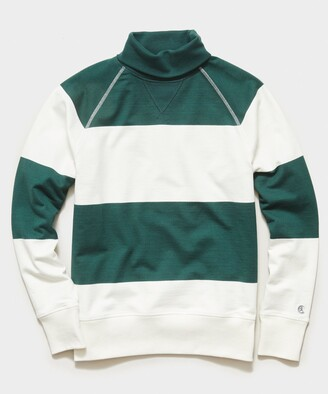 Todd Snyder + Champion Bold Stripe Turtleneck in White