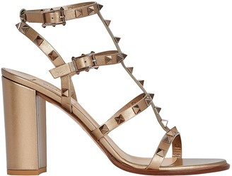 Valentino Rockstud Gladiator Heeled Sandals