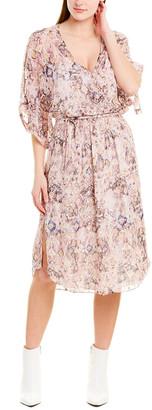 IRO Petunia Silk-Blend Midi Dress