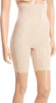 Joan Vass Nude Power Mesh High-Waist Slimmer Shorts - Plus Too