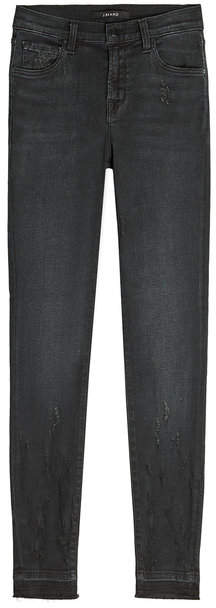 J Brand Mid Rise Distressed Skinny Jeans