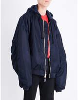 Vetements Reversible Hooded Shell Bomber Jacket