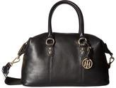 Tommy Hilfiger Addy Pebble Leather Satchel Satchel Handbags