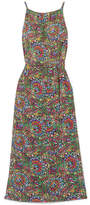 Vanessa Seward Florana Printed Silk-satin Maxi Dress - Green