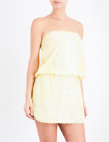 Melissa Odabash Dru bandeau floral-embroidered mini dress
