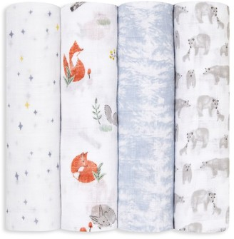 Aden Anais Baby's 4-Pack Naturally Muslin Swaddle Blanket