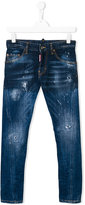 DSQUARED2 teen stonewashed distressed jeans