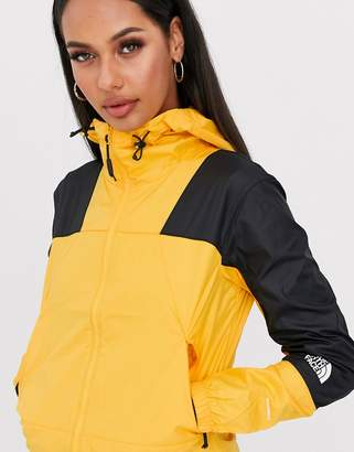 The North Face Mountain Light windshell jacket in yellow