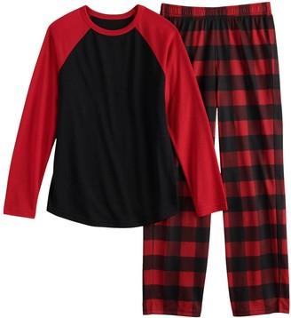 Urban Pipeline Boys 4-20 & Husky Raglan Top & Bottoms Pajama Set