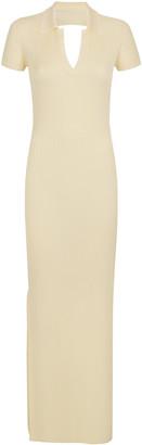 Anna October Ella Ribbed-Knit Backless Maxi Dress