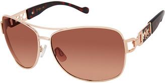 Jessica Simpson Collection Women's Sunglasses Gold/Tortoise - Gold & Tortoiseshell Aviator Sunglasses