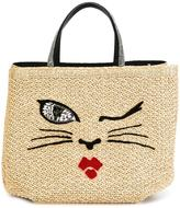 Ermanno Scervino woven cat motif tote - women - Cotton/viscose/glass - One Size