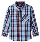 Andy & Evan Plaid Long Sleeve Shirt (Toddler & Little Boys)