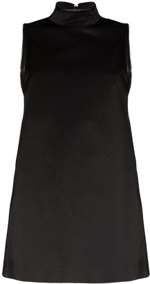 we11done A-line zipped mini dress