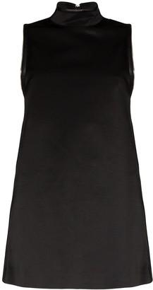 we11done A-line zipped mini dress