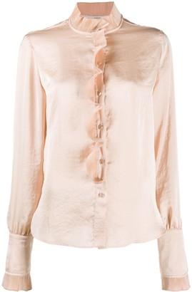Philosophy di Lorenzo Serafini Ruffle-Trimmed Long Sleeved Shirt