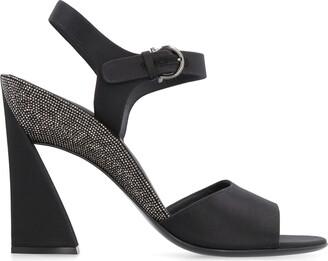 Salvatore Ferragamo Satin Heel Sandals