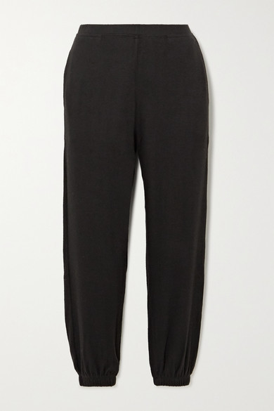 Leset Lori Brushed Stretch-jersey Track Pants - Black