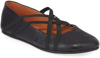 Gentle Souls Elba Elastic Leather Ballet Flats