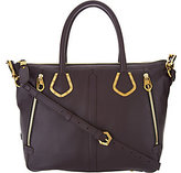 Oryany As Is Pebble Leather Satchel Handbag - Nicole