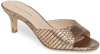 Pelle Moda Bex 2 Snakeskin Embossed Kitten Heel Sandal