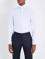 Canali Regular-fit pindot cotton shirt