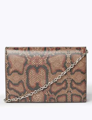 M&S CollectionMarks and Spencer Animal Print Foldover Clutch