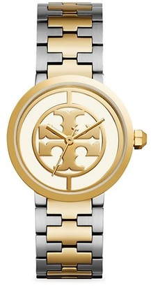 Tory Burch Reva Goldtone & Stainless Steel Bracelet Watch