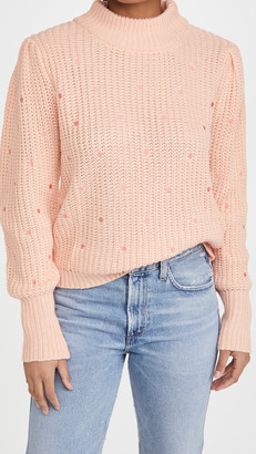 ENGLISH FACTORY Dot Embroidered Sweater
