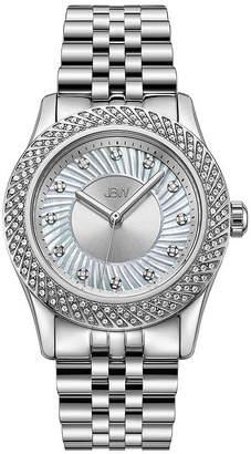 JBW 1/8 Ct. T.W Genuine Diamond Womens Diamond Accent Silver Tone Stainless Steel 3-pc. Watch Boxed Set-J6368d