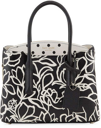 Kate Spade margaux embossed scribble flora tote bag