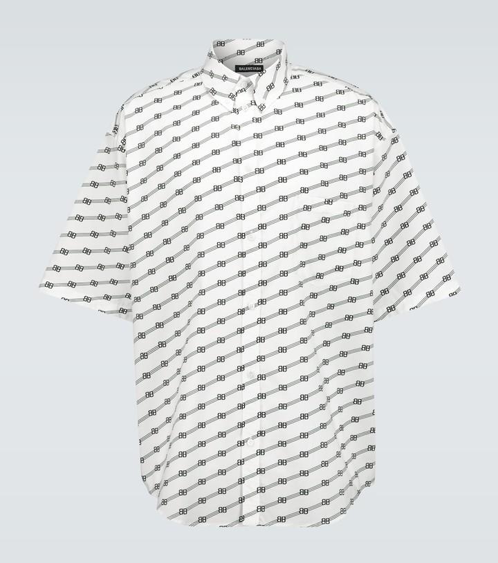 Balenciaga BB short-sleeved large-fit shirt