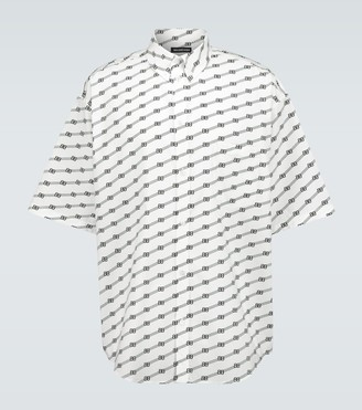 Balenciaga BB short-sleeved large-fit shirt