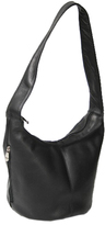 Royce Leather Women's Vaquetta Hobo Bag with Side Zip Pocket