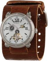 Nemesis Men's BKIN087W Brown Collection Mechanical Sun and Moon Watch
