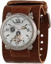 Nemesis Men's BKIN087W Brown Collection Mechanical Sun and Moon Watch